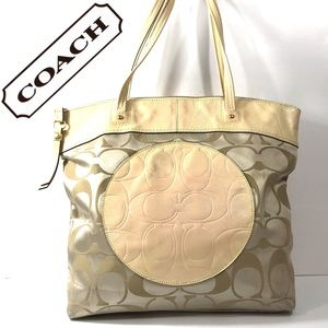 Coach Laura Signature Tote Bag